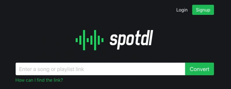 spotdl.com screenshot