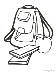 back to school backpack coloring pages