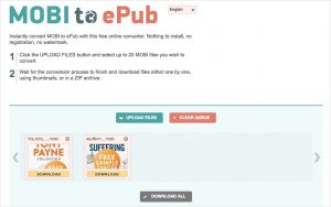 convert mobi to epub online with mobi2epub