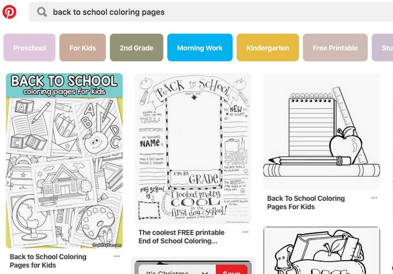 search for coloring pages on Pinterest