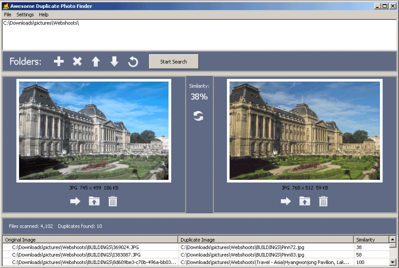 Awesome Duplicate Photo Finder preview duplicate and similar images