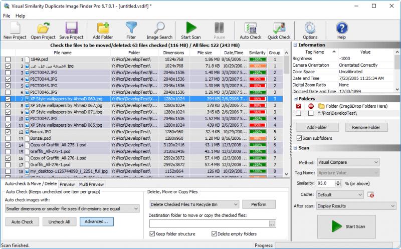 Visual Similarity Duplicate Image Finder main screen