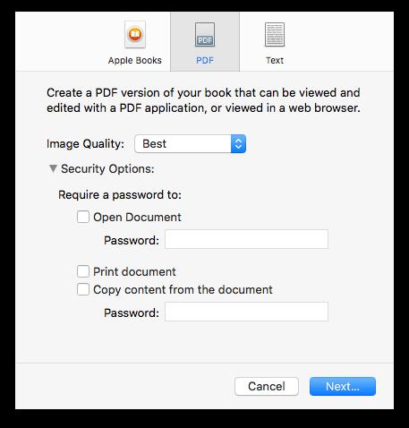 expor to PDF