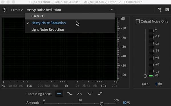 remove background noise adobe04