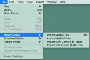 import files way three
