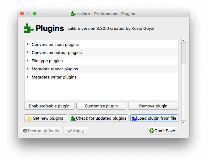 click the load plugin from file button